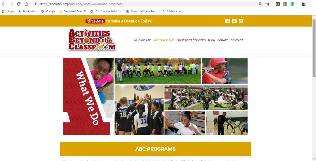 Nahamani.org helped Activities Beyond The Classroom with their rebranding and website makeover.